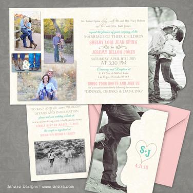 Boutique Tri-fold Invitation - Item# LF050