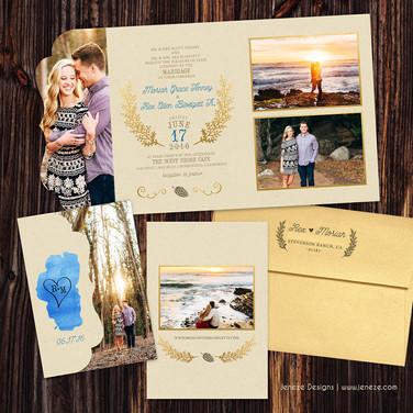 Boutique Tri-fold Invitation - Item# LF077