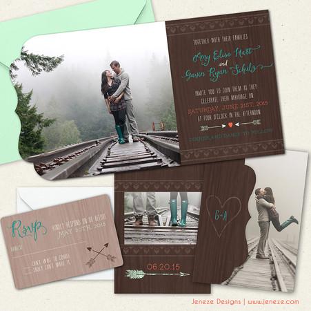 Boutique Tri-fold Invitation - Item# LF049
