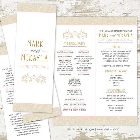 Wedding Program - Item# PG009