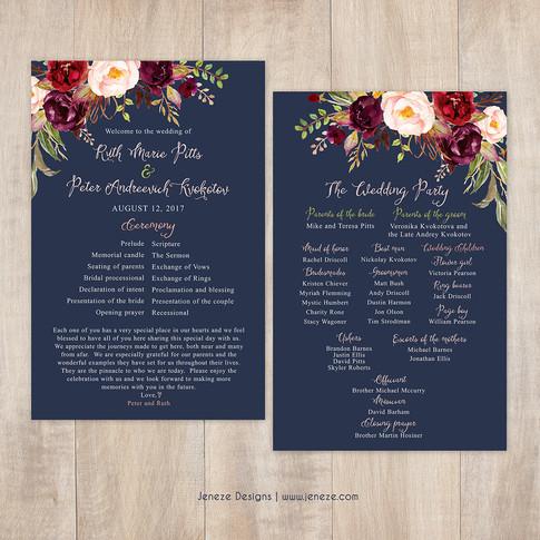 Wedding Program - Item# PG025