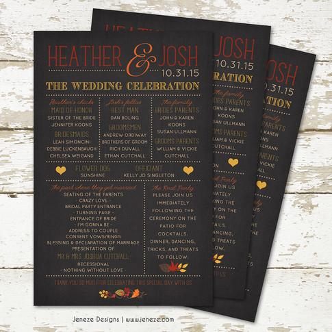 Wedding Program - Item# PG011