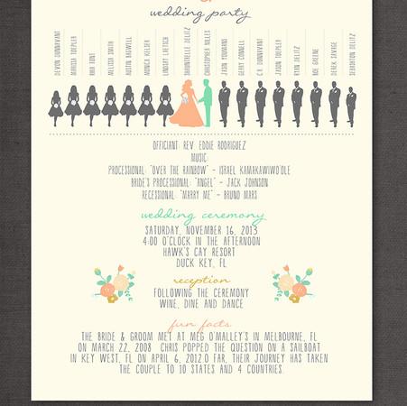 Wedding Program - Item# PG001