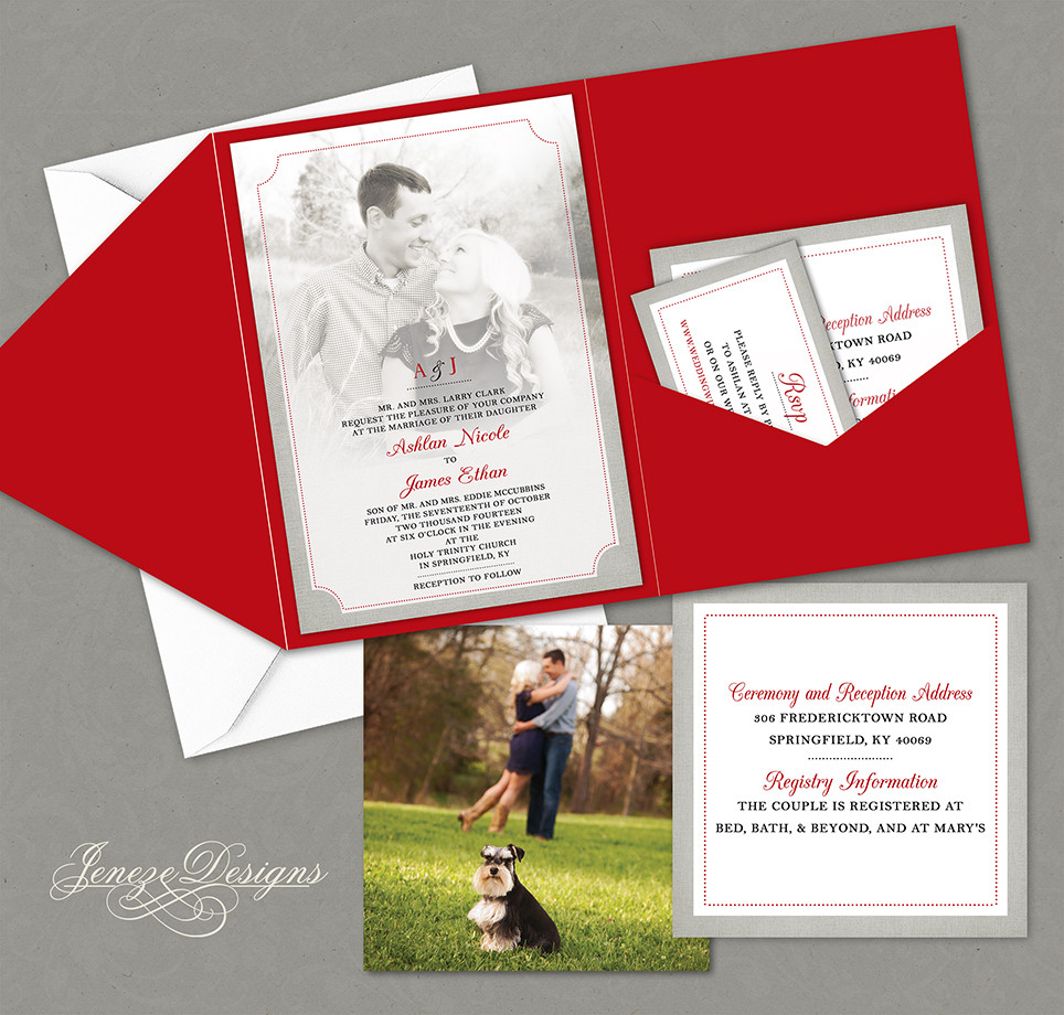 Jeneze Designs Custom Wedding Invitations | POCKET INVITATIONS