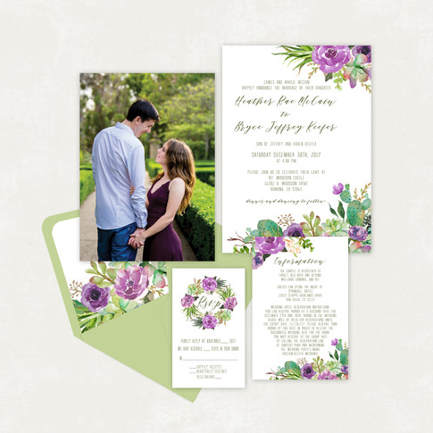 Wedding Invitation #WI344