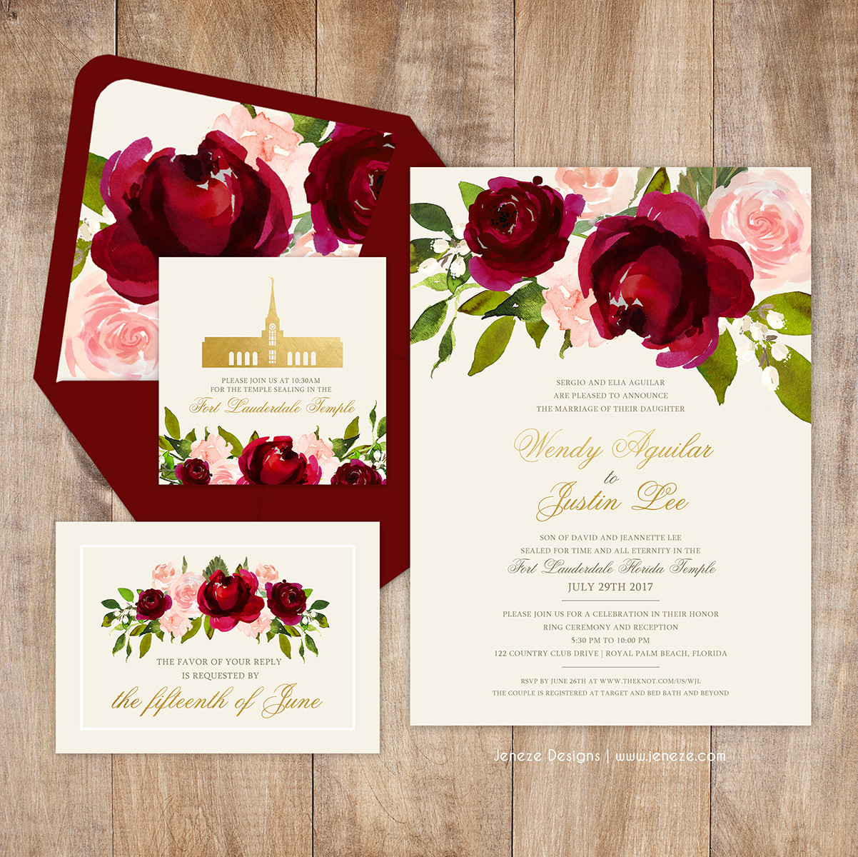 Jeneze Designs Custom Wedding Invitations | INVITATIONS