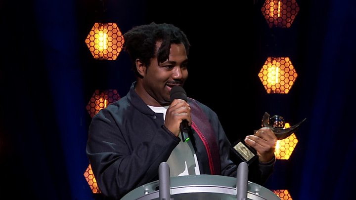 Sampha accepting his Mercury Prize