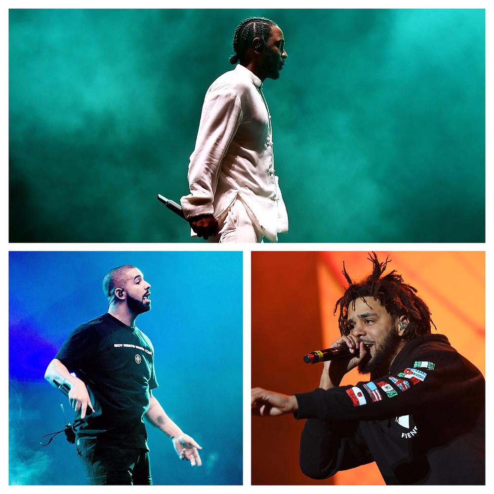 Kendrick, Cole & Drake