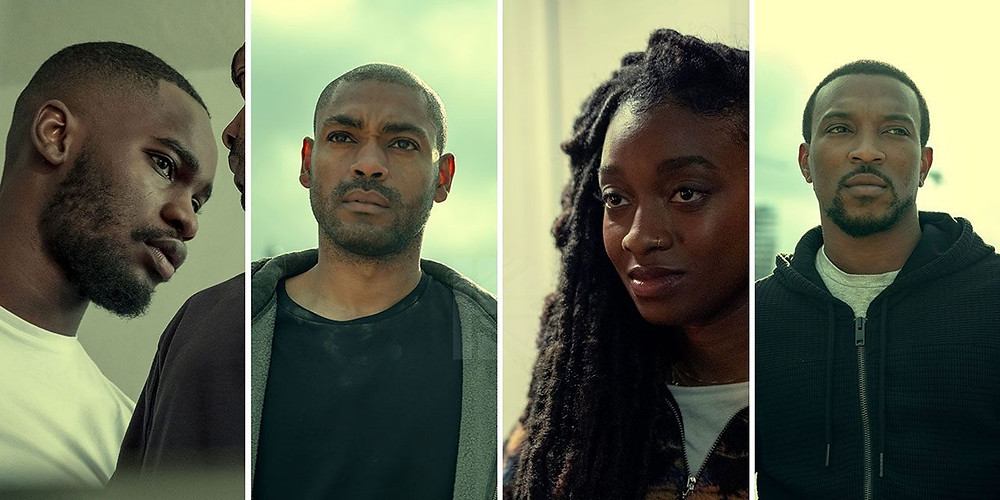 From left to right: Dave, (Modie) Kano, (Sully) Little Simz (Shelley) & Ashley Walters (Dushane)