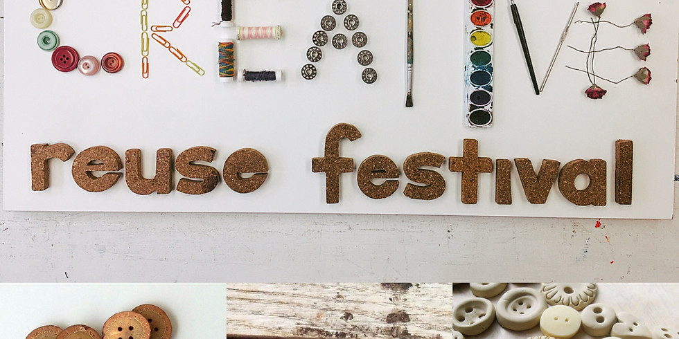 Creative Reuse Festival: Branch + Clay Buttons