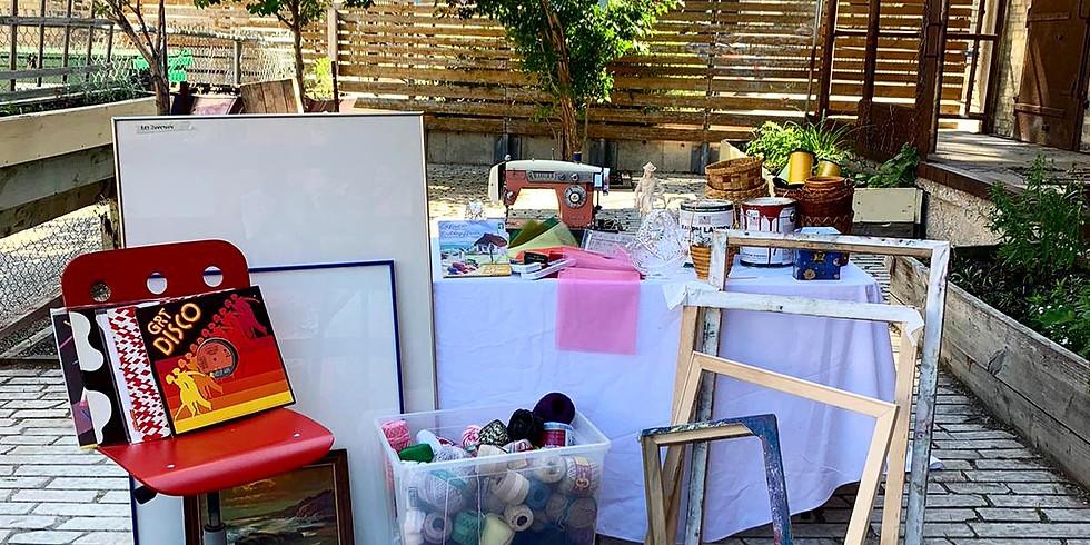 """ArtsJunktion Courtyard Yard """"Sale"""""""
