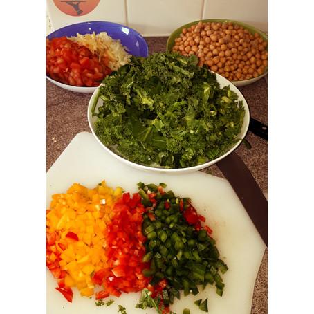West African Chickpeas and Kale tandoori Masala