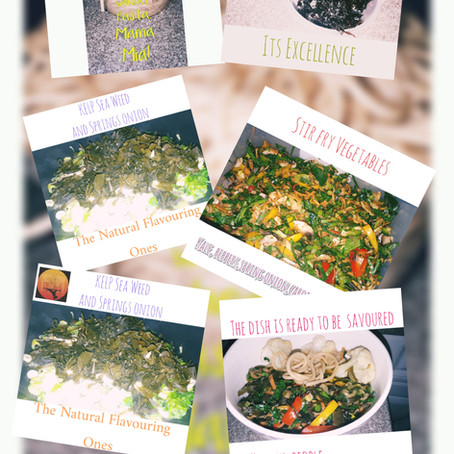 Fry veggies and seaweed