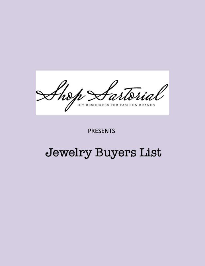Jewelry Buyer List