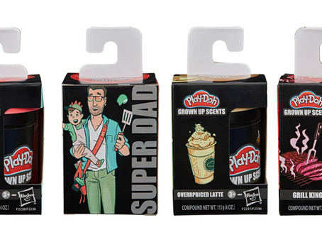 """Hasbro Unveils """"Lord of the Lawn,"""" """"Overpriced Latte,"""" and Four Other Play-Doh Scents for Grown-Ups"""