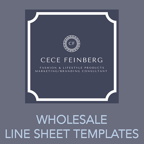 WHOLESALE LINE SHEET TEMPLATE PACKAGE
