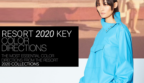 KEY COLOR DIRECTIONS FOR RESORT 2020