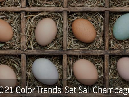 Set Sail Champagne: 2021 Color Trend