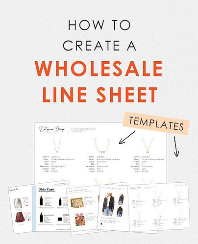 Wholesale Linesheet Template Package