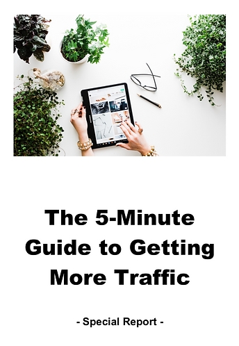 5 MINUTE GUIDE TO GETTING MORE TRAFFIC