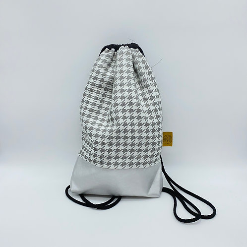 Backpack Adults - Houndstooth Taupe