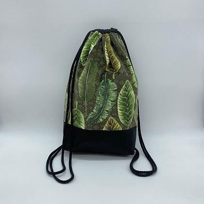 Backpack Adults - Velvet Green Leaves