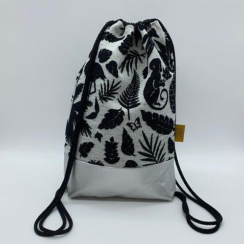 Backpack Adults - Jungle Black/White