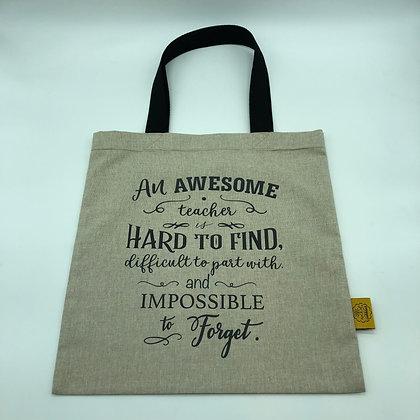 Carry Bag - Awesome Teacher