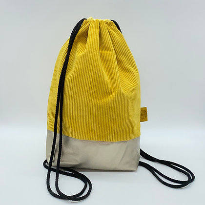 Backpack Adults - Corduroy Yellow
