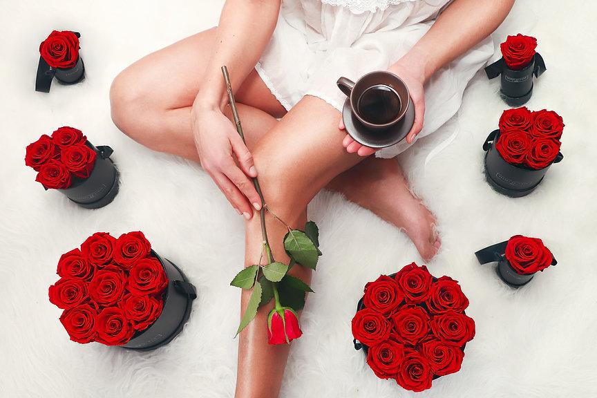 Saint-Valentin Roses éternelles rouges.j