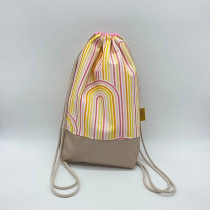 Backpack Adults - Yellow/Pink Rainbow