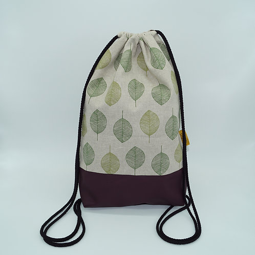 Backpack Adults - Small Green Leaves