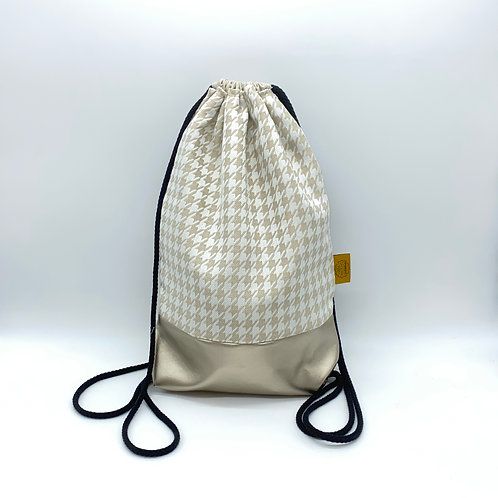 Backpack Adults - Houndstooth Beige
