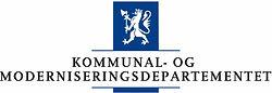 Logo Kommunal- og Moderniseringsdepartementet