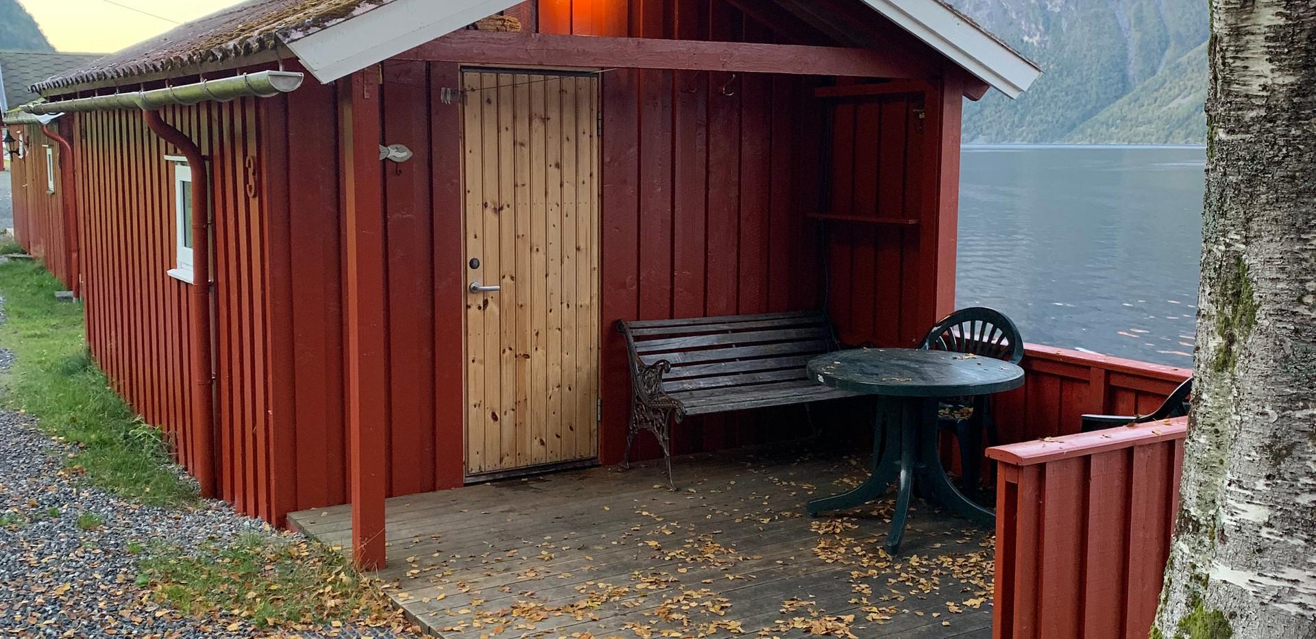 Inngang til hytte 3