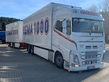 Haugsdal transport trailer med rema 1000