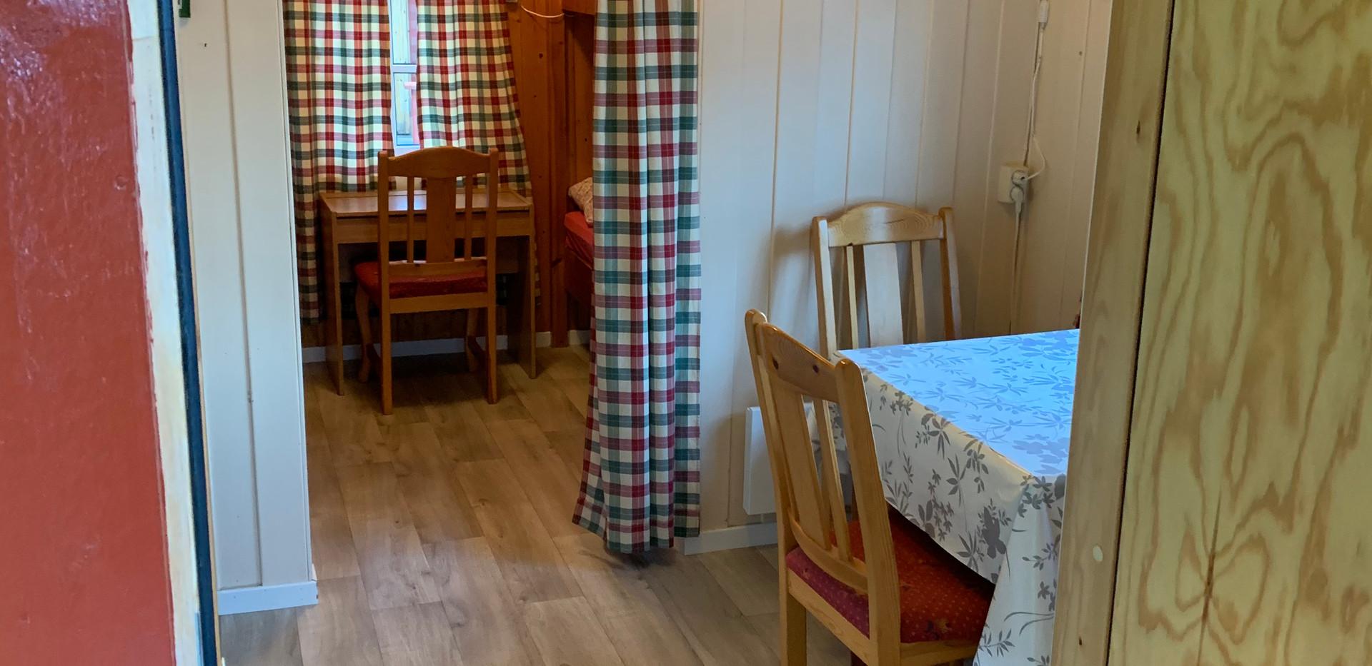 Spisekrok og soveplass hytte 3