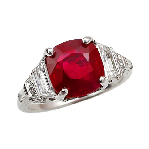 Rare Unheated Burmese Ruby