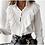 camisa feminina social com babados