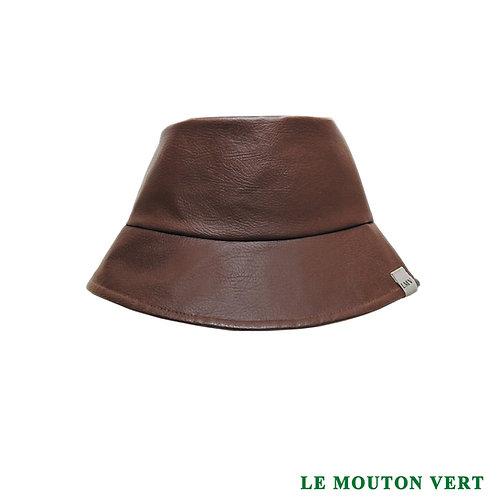 Gorra BUCKET HAT, eco cuero
