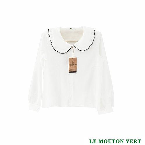 Blusa 5, blanca cuello