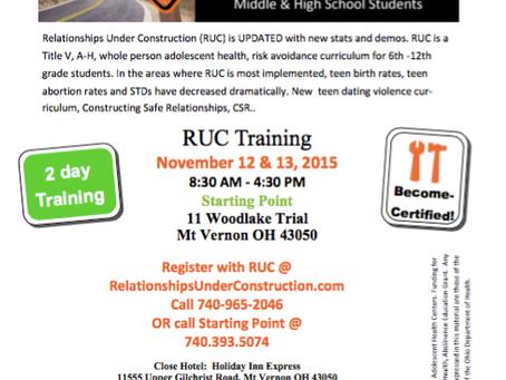 November RUC Teacher Training