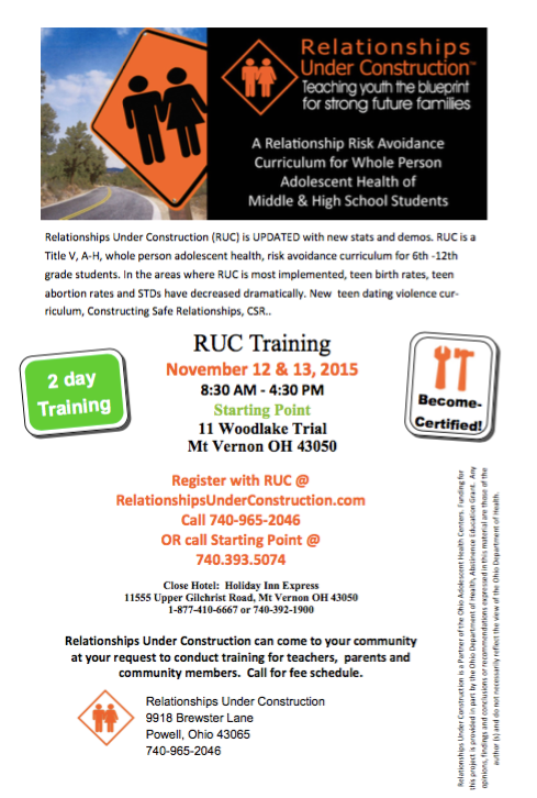 November 2015 RUC Training