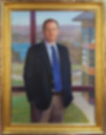 Portrait by artist James E. Tennison. Gilded frame made by Guido Frames. Portrait frame style AM418 Foster.