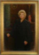 Portrait by artist Ying-He Liu. Gilded frame made by Guido Frames. Portrait frame style AM418 Foster.
