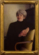 Portrait by artist Mary Bolden. Gilded frame made by Guido Frames. Portrait frame style AM418 Foster.