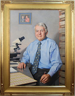 Portrait by artist Richard Whitney. Gilded frame made by Guido Frames. Portrait frame style AM418 Foster.