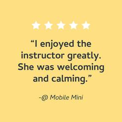 Mobile Mini Wellness Day!