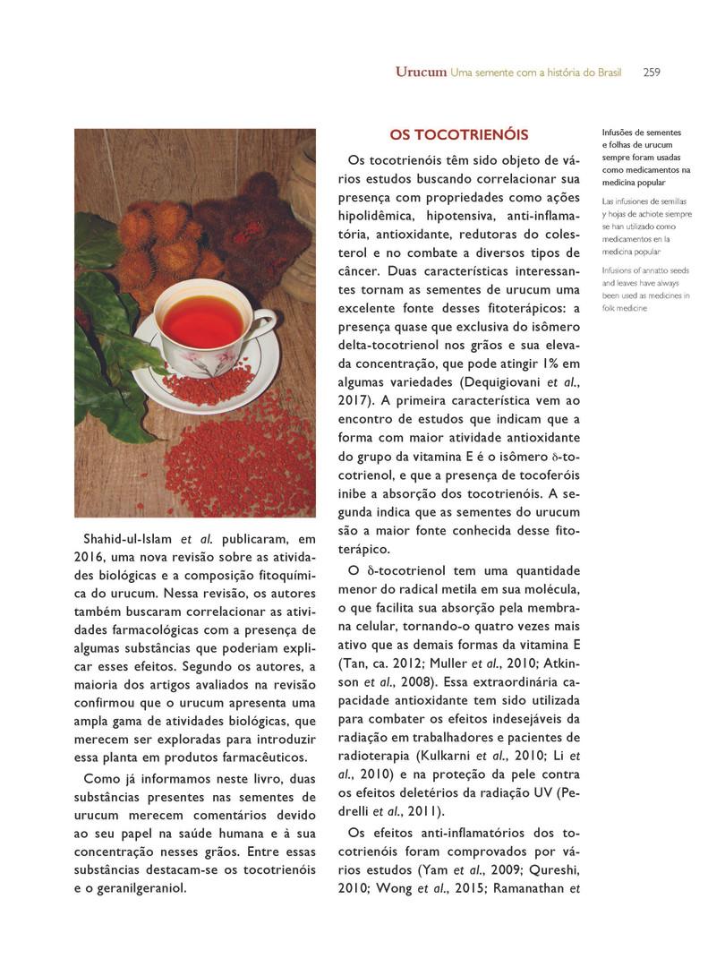 Infusões de sementes de urucum utilizadas como fitoterápicos. - Acervo particular do autor