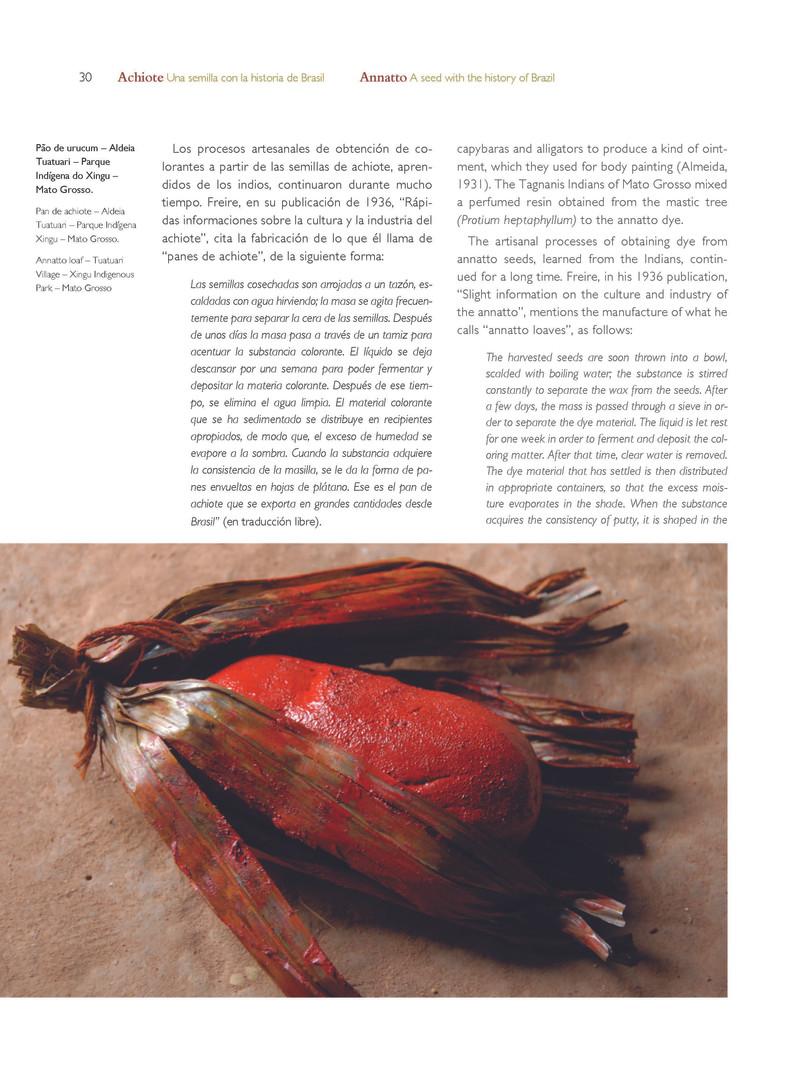 Pão de urucum - Aldeia Tuatuari - Parque Indígena do Xingu - Mato Grosso - Brasil - Autor: Serge Pierre Guiraud